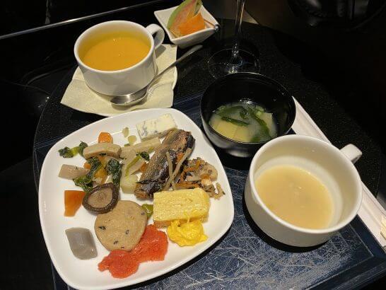 ANAスイートラウンジの和食・スープ