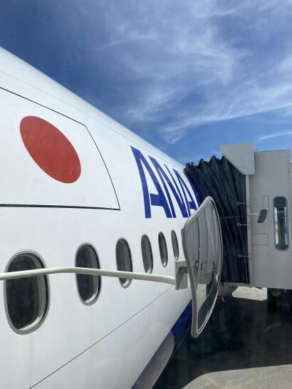 ANAの飛行機(側面)