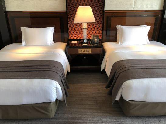 ザ・リッツ・カールトン東京のツインベッド