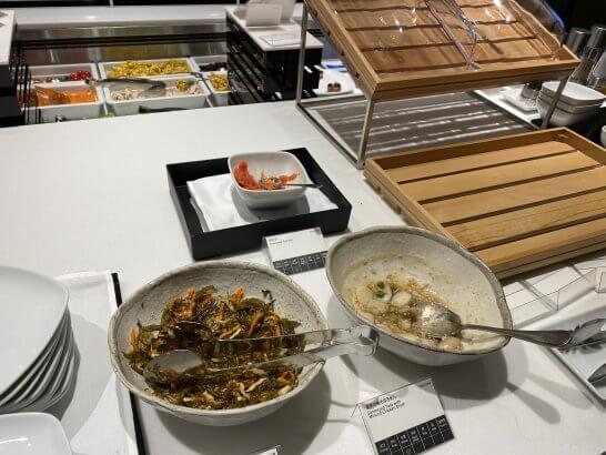 ANAスイートラウンジ(羽田T3)の和の惣菜・サラダ・オードブル