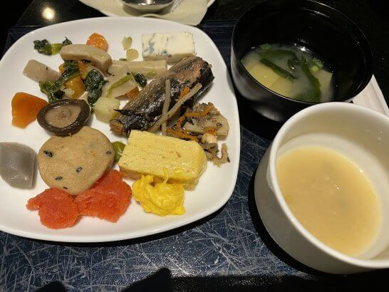 ANAスイートラウンジの和食・スープ・味噌汁