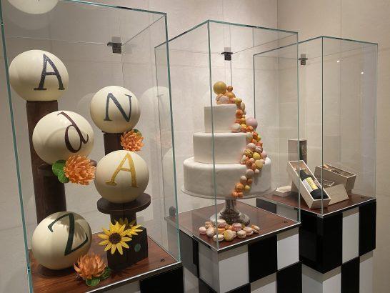 アンダーズ東京のペストリーショップの展示