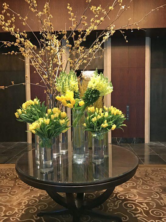 シャングリ・ラ ホテル 東京の入口の花
