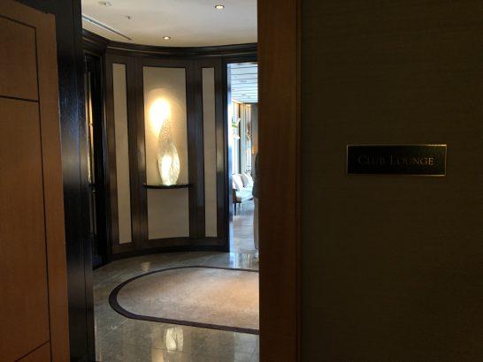 ザ・リッツ・カールトン東京のクラブラウンジの入り口