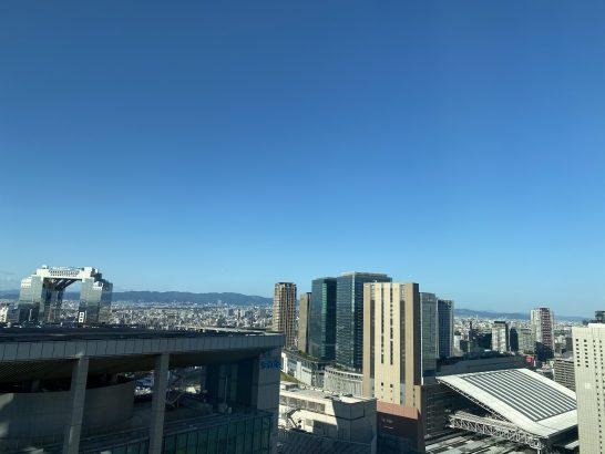 リッツカールトン大阪のデラックスルームからの景色