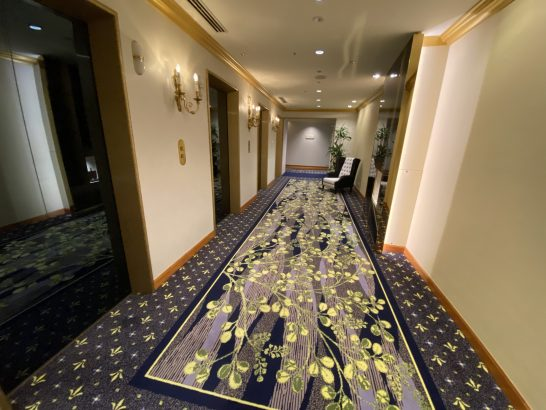 ウェスティンホテル大阪のクラブフロアのエレベーター