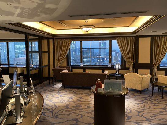 ウェスティンホテル大阪のクラブラウンジの入り口