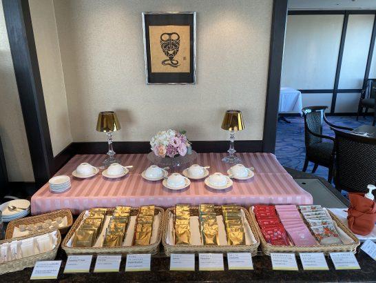 ウェスティンホテル大阪のエグゼクティブクラブラウンジのドリンクコーナー・紅茶