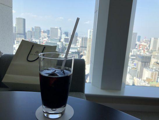 セントレジス大阪のアイスコーヒー(バトラーサービス)