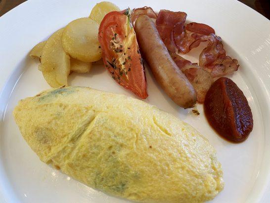 セントレジス大阪の朝食のオムレツ