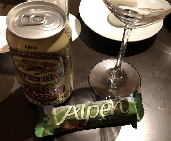セントレジス大阪のミニバーのビール・おつまみ