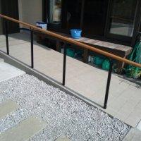 玄関スロープ造作工事