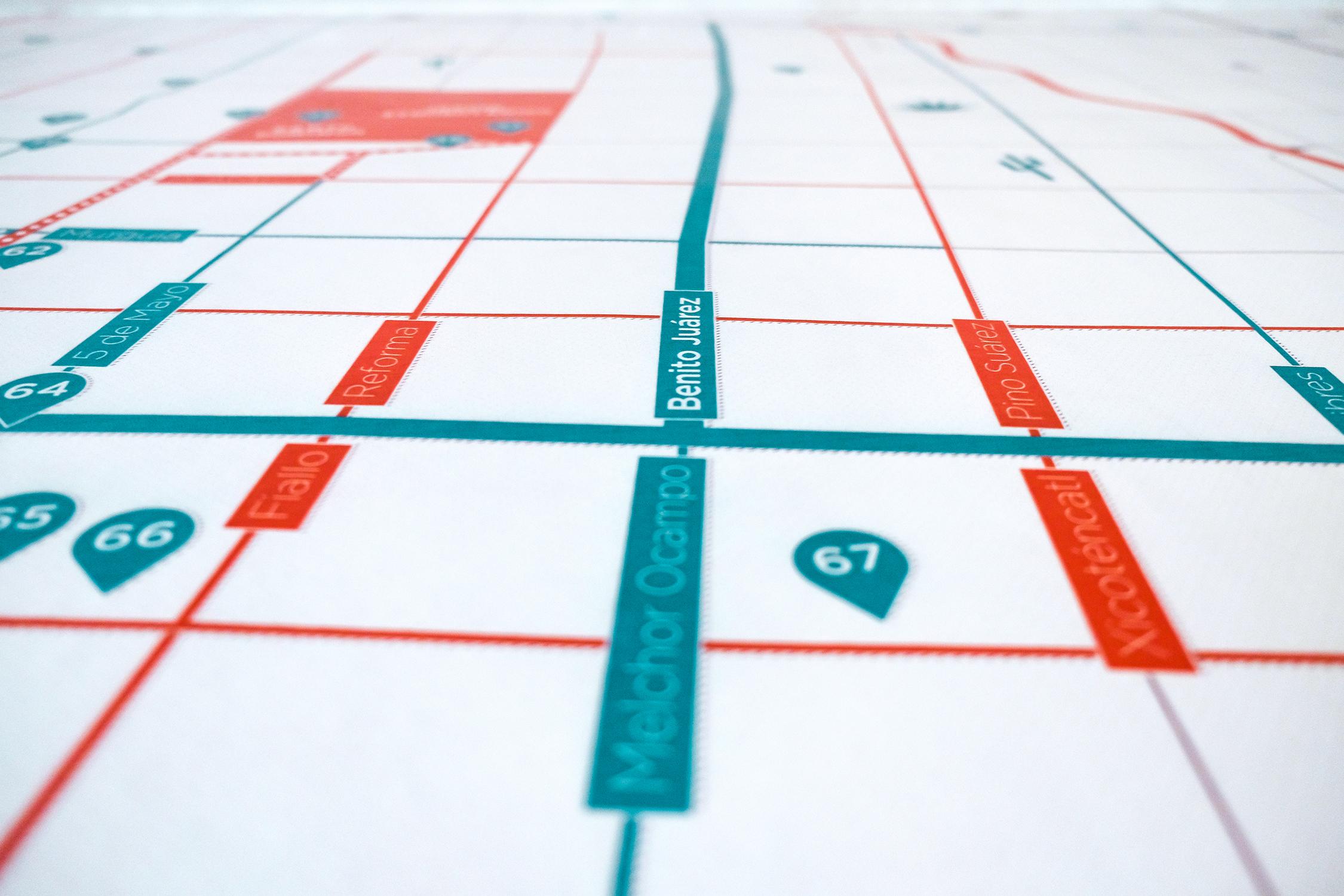 Oaxaca Map - Detail Streets Shot