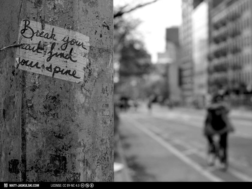 art blackandwhite bnw city d800 newyork newyorkcity Nikon nikonphotography nyc quote street streetart streetphoto urban wisdom