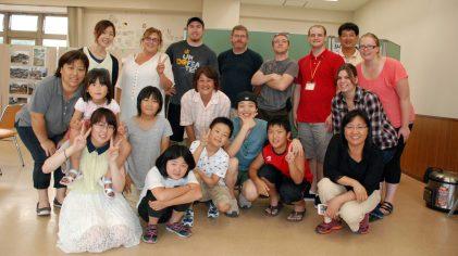 LifePointe Team, Zao Church Team, and Higashi Matsushima residents and children
