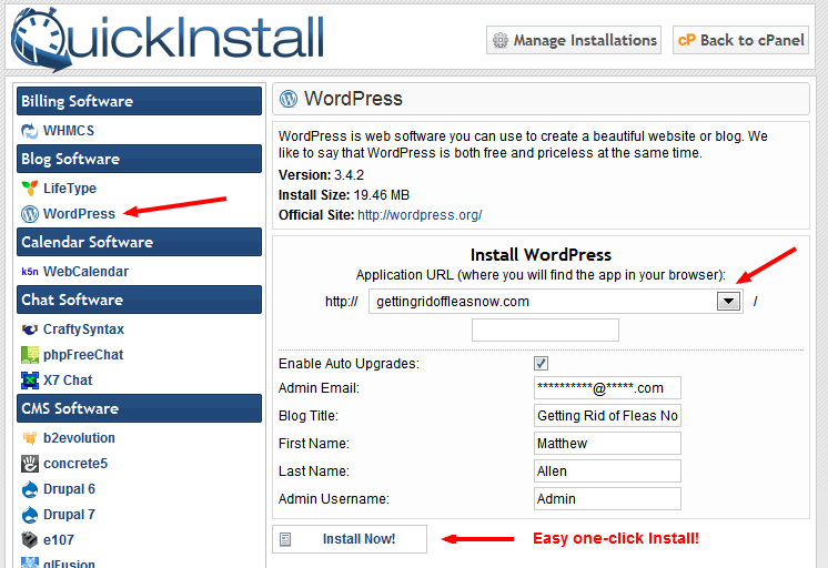 how to find my domain host in wordpress