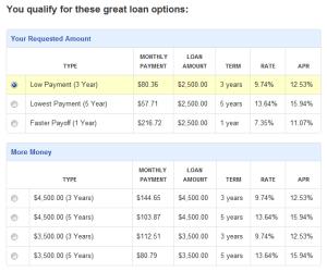 Choose your loan - Prosper - Dumb Passive Income