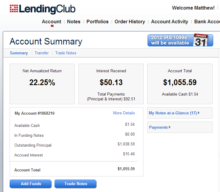 Lending club note trading strategy