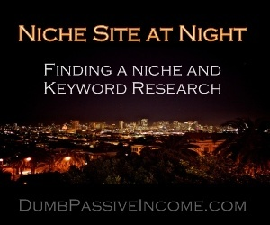 finding a niche - keyword research