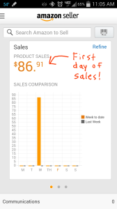Amazon screenshot - day 1