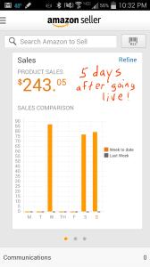 Amazon screenshot - day 5