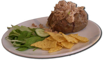 Jacket potato and tuna