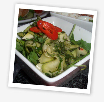 Courgette salad, Black Sheep Bar, Ryde