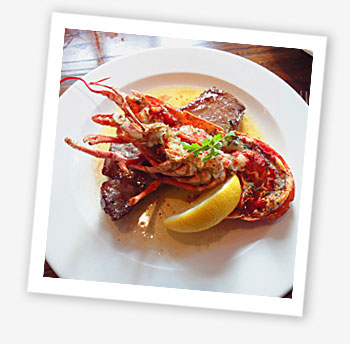 Surf n Turf, The Boathouse, Puckpool, Ryde