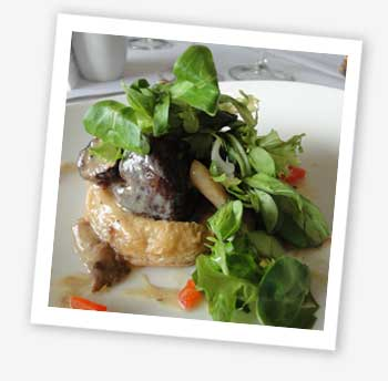 Wild mushrooms in a puff pastry case