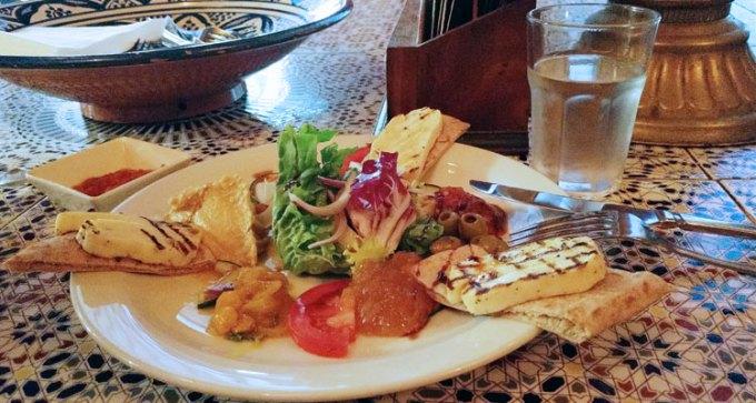 St Nicholas street food market: Moorish Cafe - halloumi