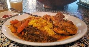 St Nicholas street food market: Moorish Cafe - chicken tagine