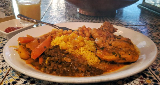 St Nicholas street food market: Moorish Cafe - chicken tagine