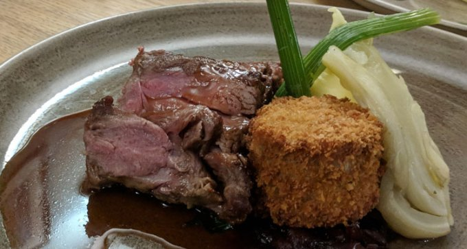 Roasted rump and crispy belly of lamb