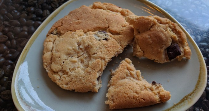 Chocolate and ginger cookie