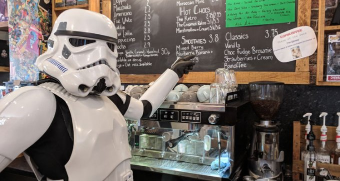Stormtrooper at Comicoffee