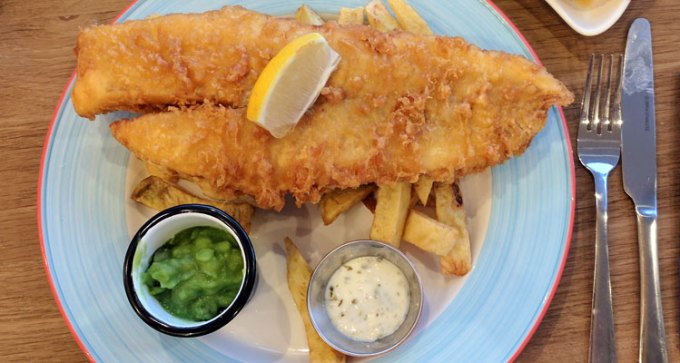 Medium cod and chips
