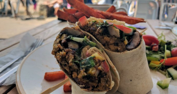 Chickpea wrap
