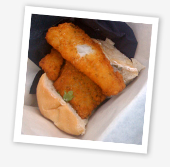 Taste of the Wight fish finger sandwich