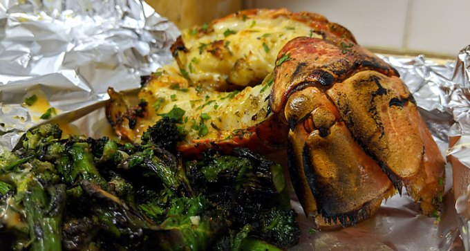 Isle of Wight grilled lobster tail