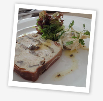 Hillside Bistro, Ventnor terrine of chicken