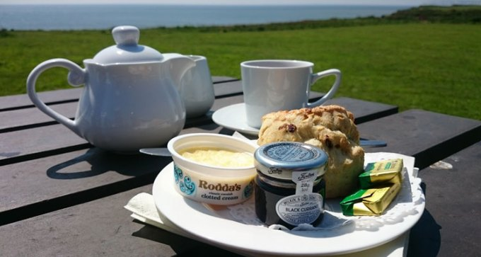 Your standard cream tea, in a rather spectacular location!