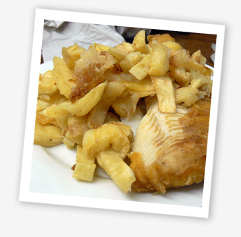 Jolly Fryer, cod and chips