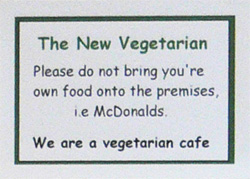 We are a vegetarian cafe
