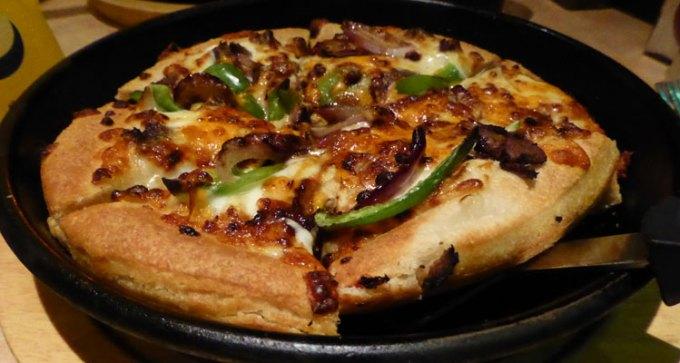 Philadelphia cheese steak pizza