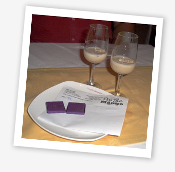 Baileys and chocolates to sweeten the bill