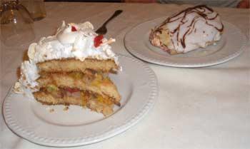 Dessert at the Roadside Inn