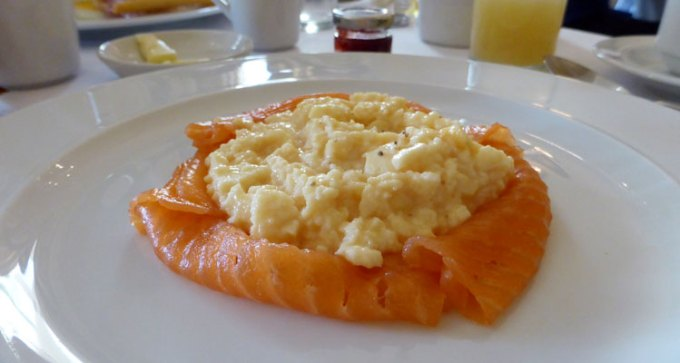 The Royal Hotel's own smoke salmon and scrambled eggs