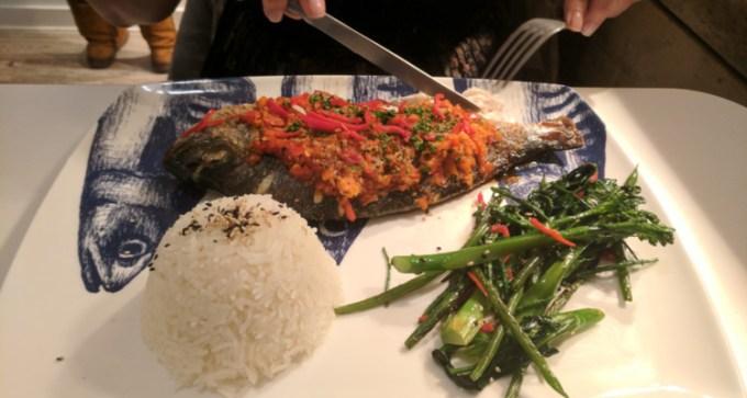 Smoking Lobster: sea bream