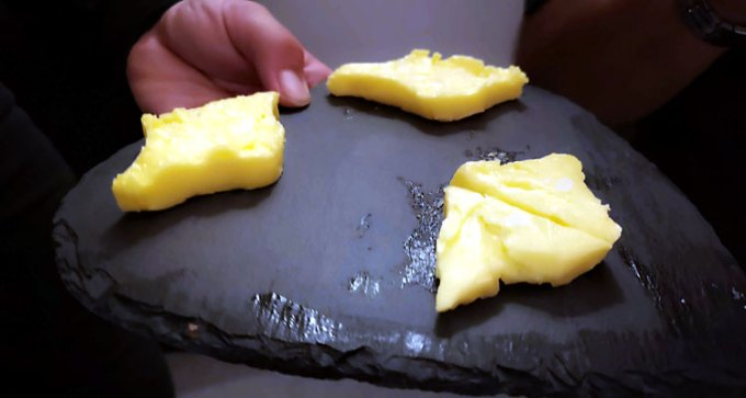 Isle of Wight-shaped butter