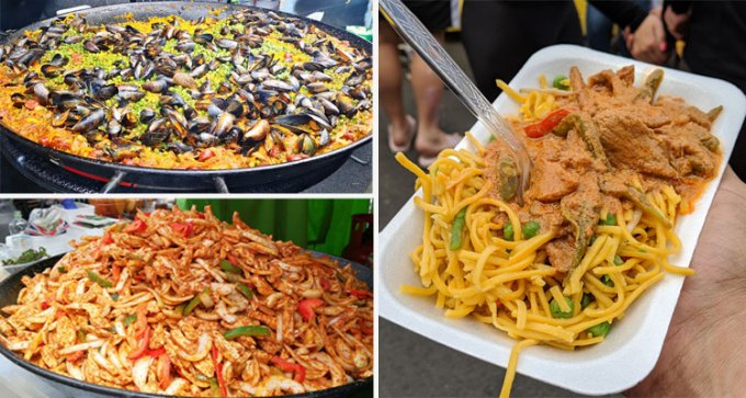 Fajitas, oodles of noodles and paella